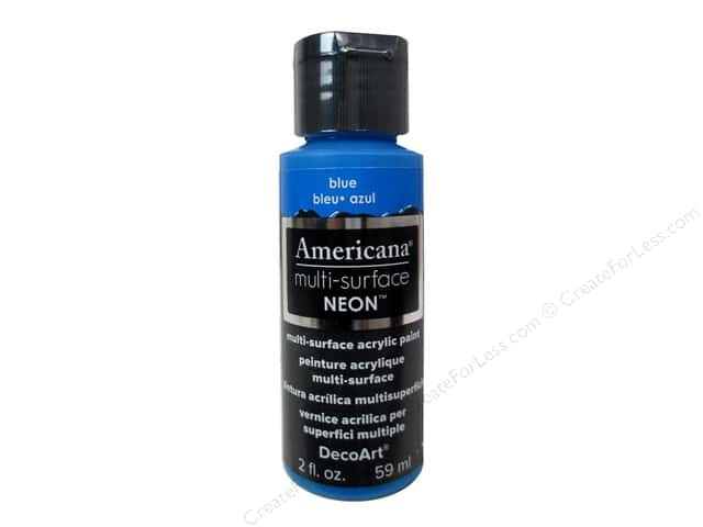 DecoArt Americana Multi-Surface Satin 2 oz. Neon Blue