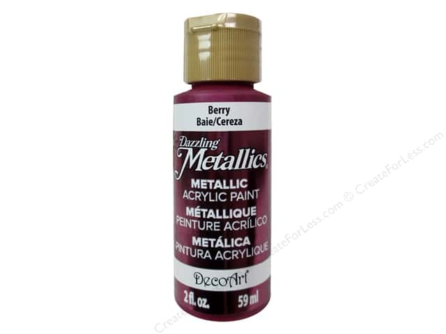 DecoArt Dazzling Metallics Acrylic Paint 2 oz. Berry