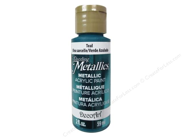 DecoArt Dazzling Metallics Acrylic Paint 2 oz. Teal