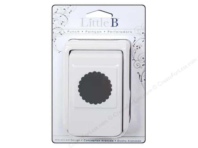 Little B Paper Punch Medium Circle Scallop