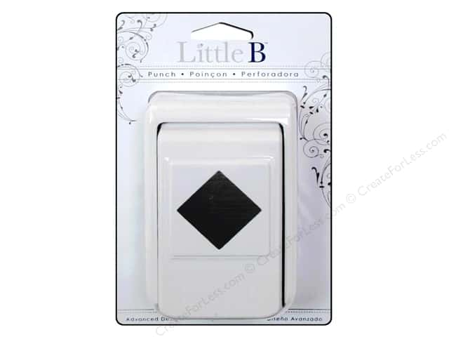Little B Paper Punch Medium Square Diamond