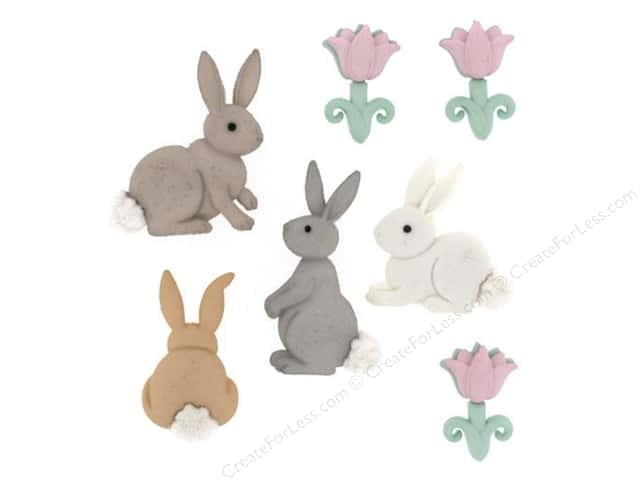 Jesse James Dress It Up Embellishments Easter Cotton Tails