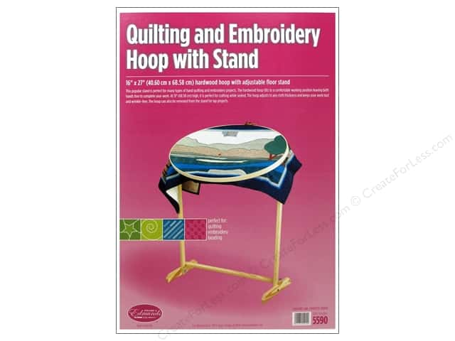 "F.A.Edmunds Frame Quilting Hoop Oval 16""x 27"" with Stand"