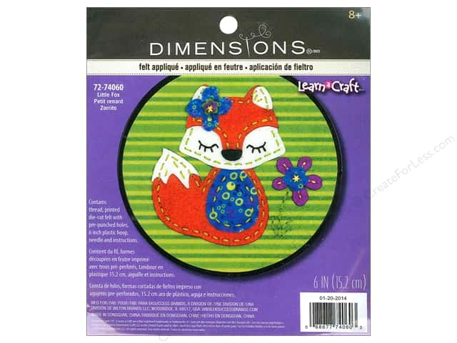 Dimensions Applique Kit Little Fox