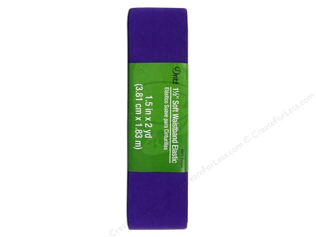 Soft Waistband Elastic by Dritz 1 1/2 in. x 2 yd. Hank Purple