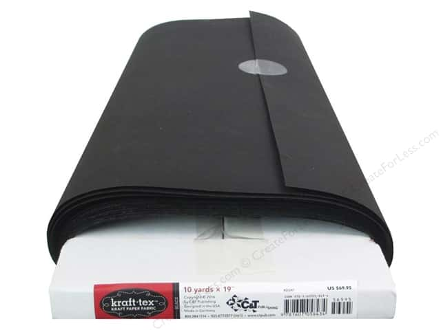 C&T Publishing Kraft-Tex Paper Fabric 19 in. x 10 yd. Black