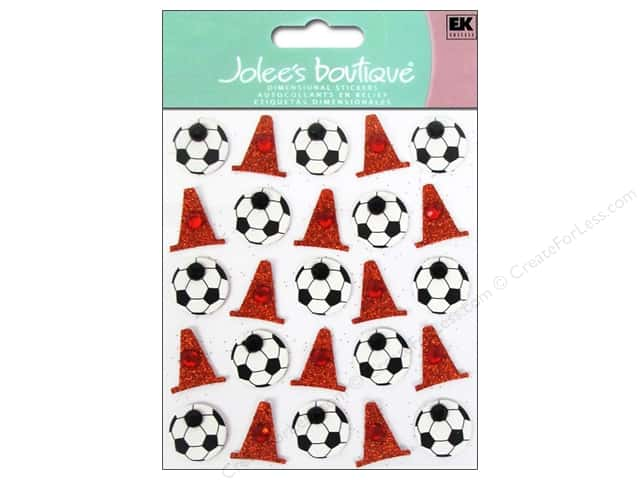 Jolee's Boutique Stickers Repeats Soccer Balls & Cones