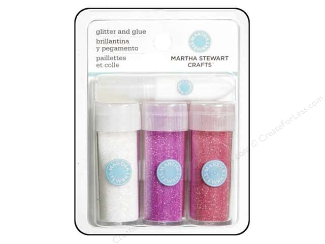 Martha Stewart Glitter Set with Glue Pink