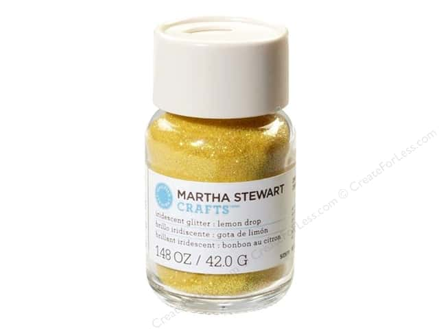 Martha Stewart Glitter Iridescent Lemon Drop