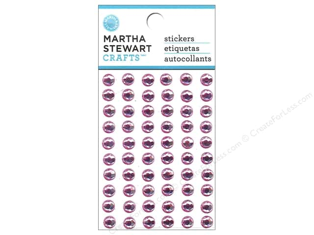 Martha Stewart Sticker 3D Gemstone Pink