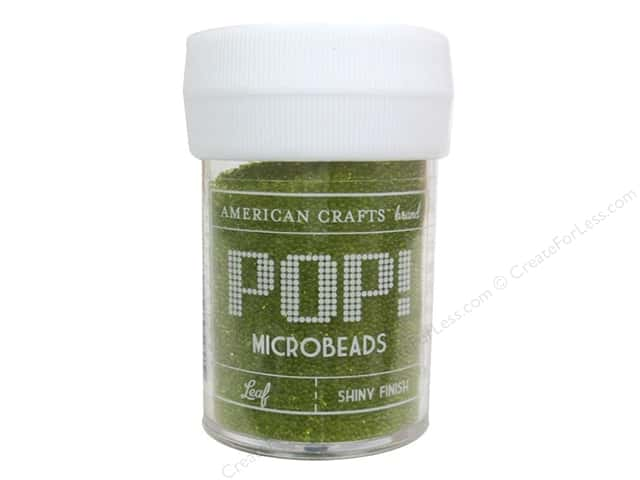 American Crafts Pop! Microbeads 1 oz. Leaf