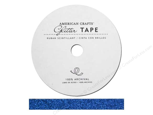 American Crafts Glitter Tape 3/8 in. Marine