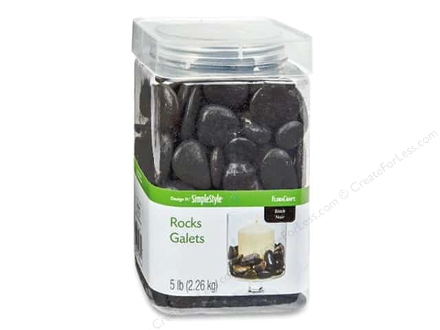 FloraCraft Decorative Rocks 5 lb. Black