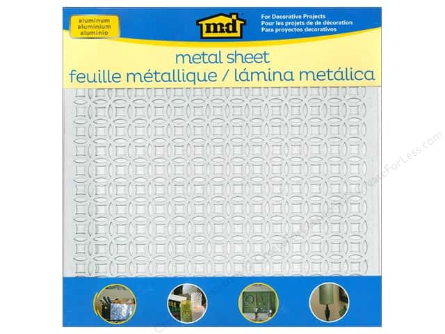 "MD Metal Sheet 12""x 12"" Aluminum Elliptical"