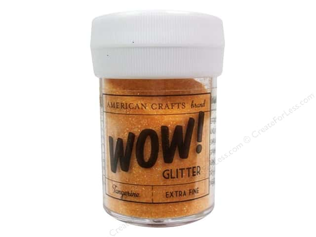 American Crafts Wow! Glitter 1 oz. Extra Fine Tangerine