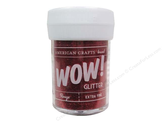 American Crafts Wow! Glitter 1 oz. Extra Fine Rouge