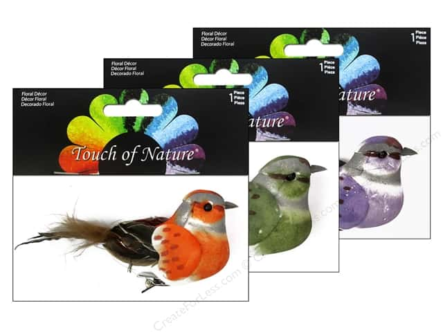 Midwest Design Artificial Birds 4 in. Feather with Clip Assorted 1 pc.