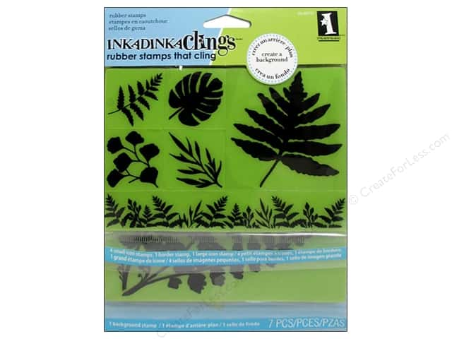 Inkadinkado Cling Stamp Tropical Ferns