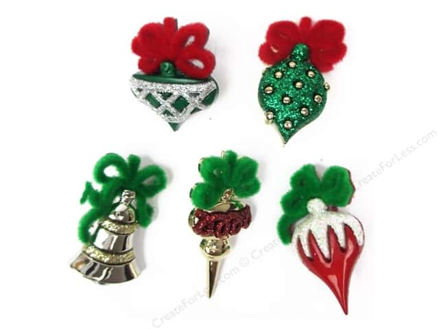 Jesse James Embellishments Christmas Ornaments
