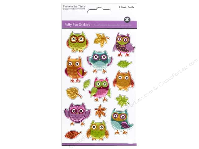 Multicraft Sticker Puffy Owls