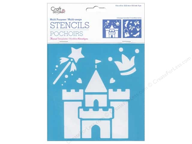 Craft Decor Stencil 6 x 6 in. Princess