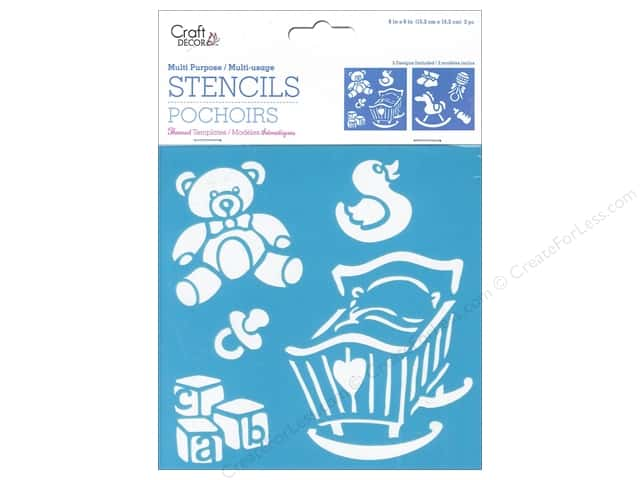 Craft Decor Stencil 6 x 6 in. Baby Icons