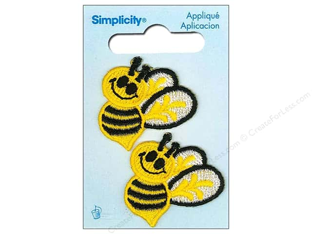 Simplicity Appliques Iron On Bees Yellow/Black