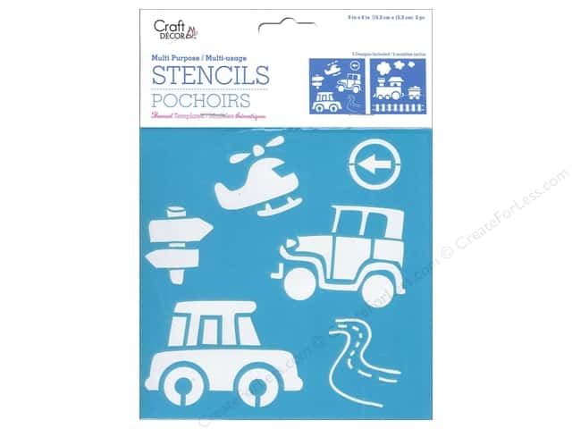 Craft Decor Stencil 6 x 6 in. On The Move