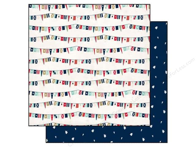 Carta Bella 12 x 12 in. Paper Ahoy There Ship Flags (25 sheets)
