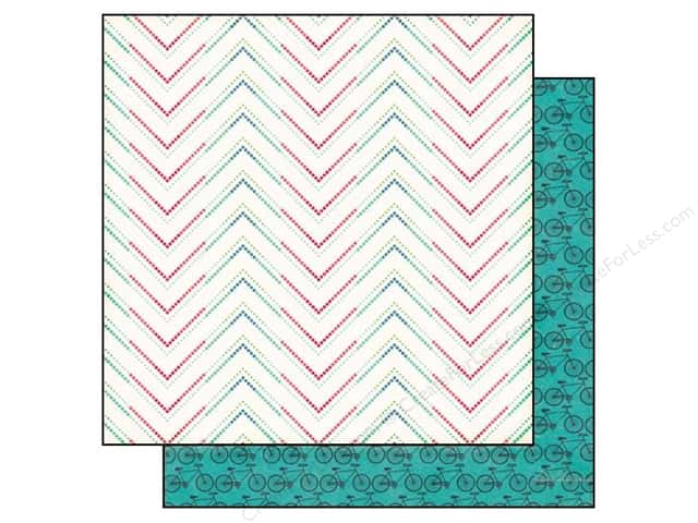 Echo Park 12 x 12 in. Paper We Are Family Collection Dotted Chevron (25 sheets)