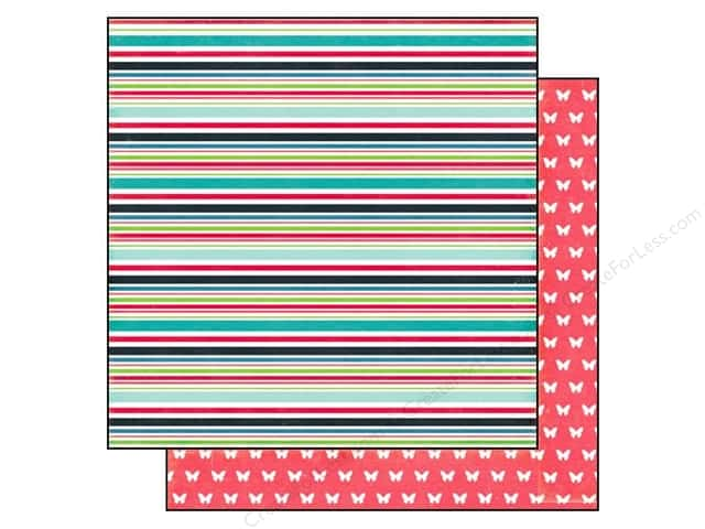 Echo Park 12 x 12 in. Paper We Are Family Collection Family Stripe (25 sheets)