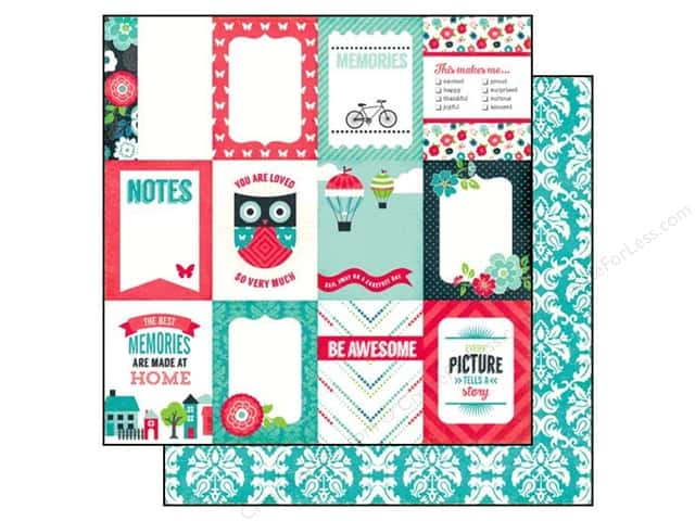 Echo Park 12 x 12 in. Paper We Are Family Collection 3 x 4 in. Journaling Cards (25 sheets)