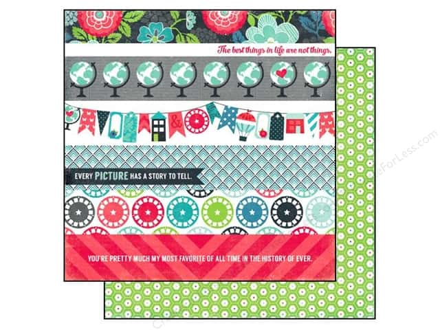 Echo Park 12 x 12 in. Paper We Are Family Collection Border Strips (25 sheets)