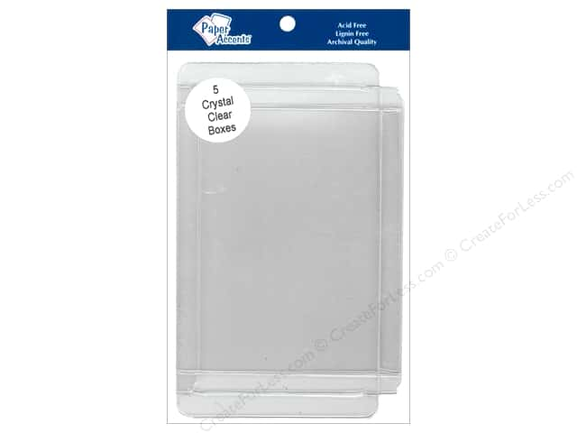 Paper Accents Crystal Clear Boxes 4 1/2 x 1/2 x 5 7/8 in. 5 pc.