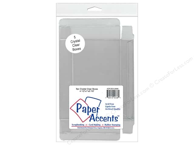 Paper Accents Crystal Clear Boxes 4 1/2 x 1 x 5 7/8 in. 5 pc.