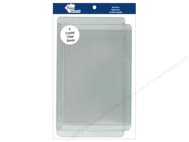 Paper Accents Crystal Clear Boxes 5 3/8 x 1/2 x 7 3/8 in. 5 pc.