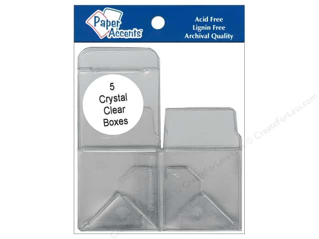 Paper Accents Crystal Clear Boxes 2 x 2 x 2 in. 5 pc.