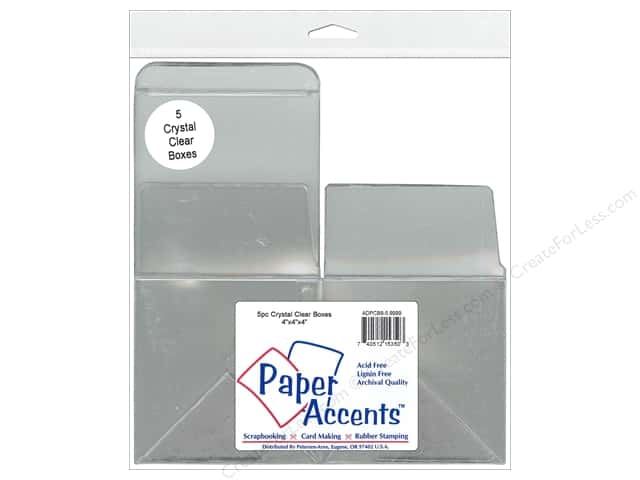 Paper Accents Crystal Clear Box 4 x 4 x 4 in. 5 pc.
