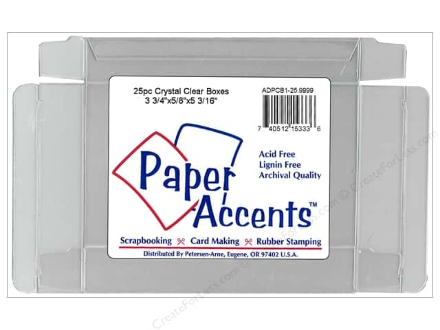 Paper Accents Crystal Clear Boxes 3 3/4 x 5/8 x 5 3/16 in. 25 pc.