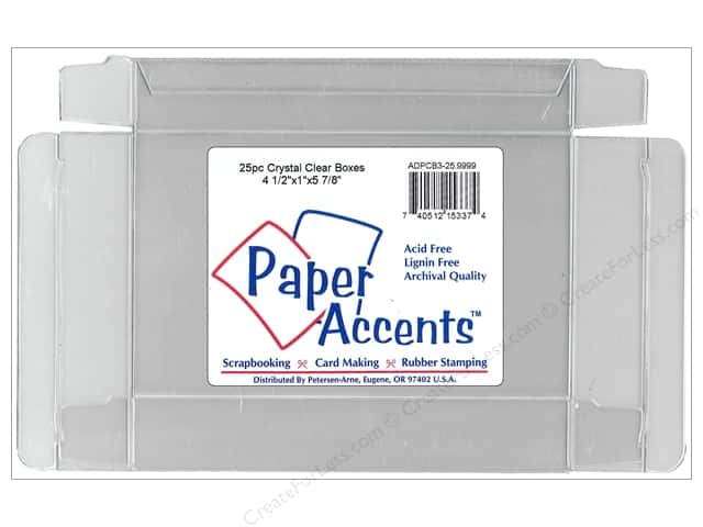 Paper Accents Crystal Clear Boxes 4 1/2 x 1 x 5 7/8 in. 25 pc.