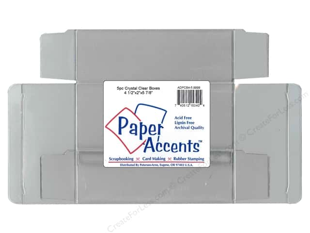 Paper Accents Crystal Clear Boxes 4 1/2 x 2 x 5 7/8 in. 25 pc.