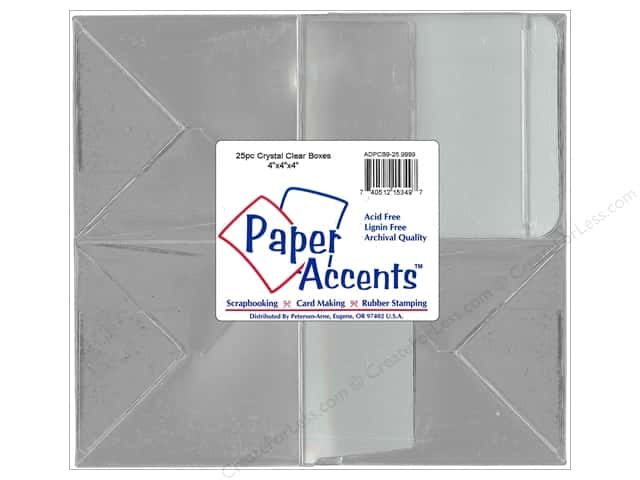 Paper Accents Crystal Clear Boxes 4 x 4 x 4 in. 25 pc.