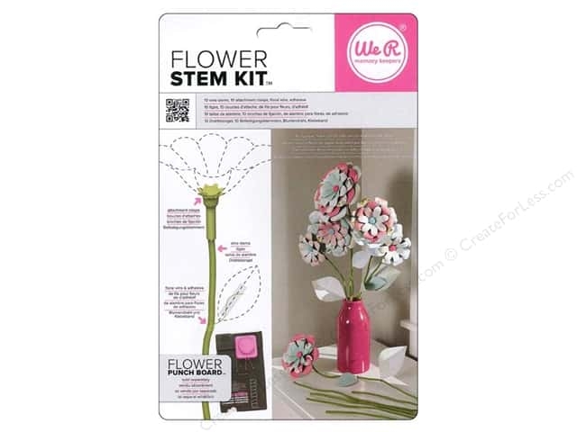 We R Memory Keepers Flower Stem Kit 10 pc. Spring Green