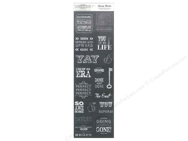 Authentique 4 x 12 in. Die Cut Accomplished Stamp Blocks (12 sets)
