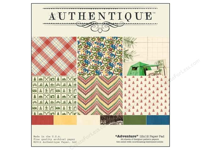Authentique Paper Pad 12 x 12 in. Adventure Collection
