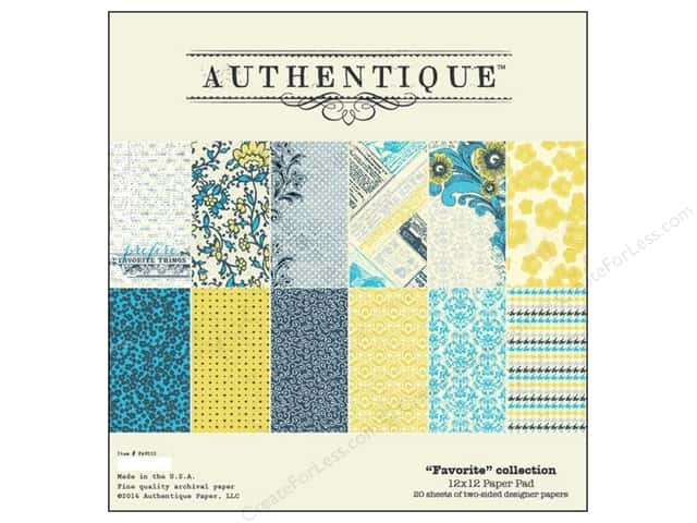 Authentique Paper Pad 12 x 12 in. Favorite Collection