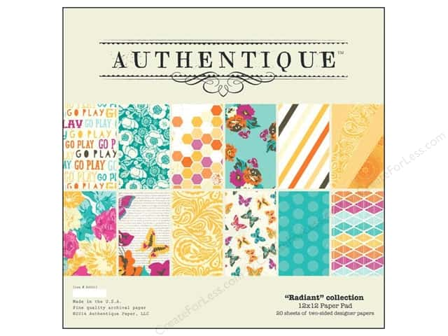 Authentique Paper Pad 12 x 12 in. Radiant Collection