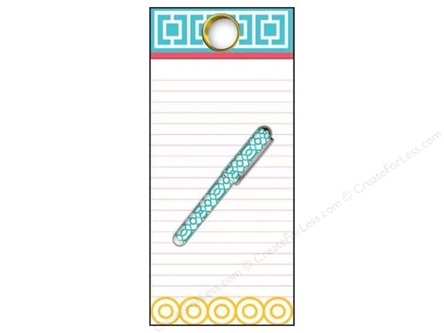 Lily McGee Note Pad List With Grommet & Pen Geometrics
