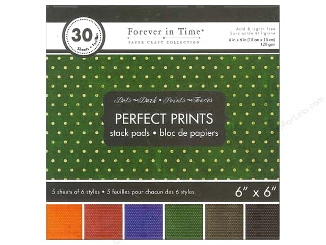 "Multicraft Stack Pad 6""x 6"" Perfect Prints Dots Dark"
