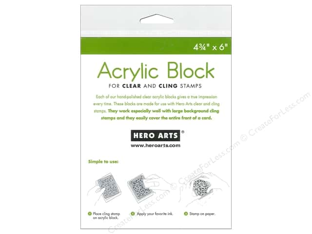 Hero Arts Acrylic Stamp Block 4 3/4 x 6 in.